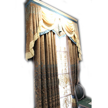 custom screen print manual luxury british style curtain