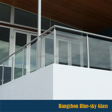 Laminated deck railing glass panels balustrades parapet handrail high quality new design cheap