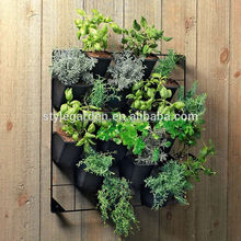 indoor & outdoor plastic vertical garden green pots and planters