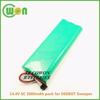 Sweeper battery Ni-MH 14.4V SC 3000mAh 14.4v nimh battery pack replacement battery for Deepot sweeper 5 series