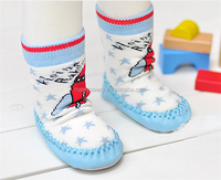 Baby Waterproof Non-skid Leather Sole Shoe Sock