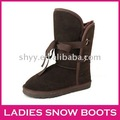 Newest Fashion snow boots Ribbon genuine leather shoes women's snow boots