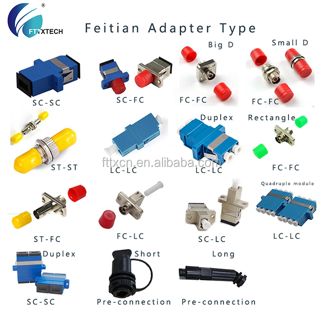 feitian FTTx SC LC ST FC pre-connection adapter ftth tool kit fiber optic splicing kit