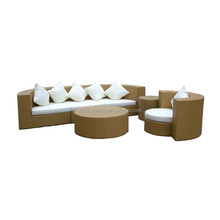 Luxury living room round sofa bed rattan lounge sofa furniture set