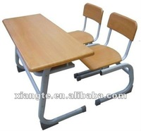 hot design steel furniture durable double school desk with chairs