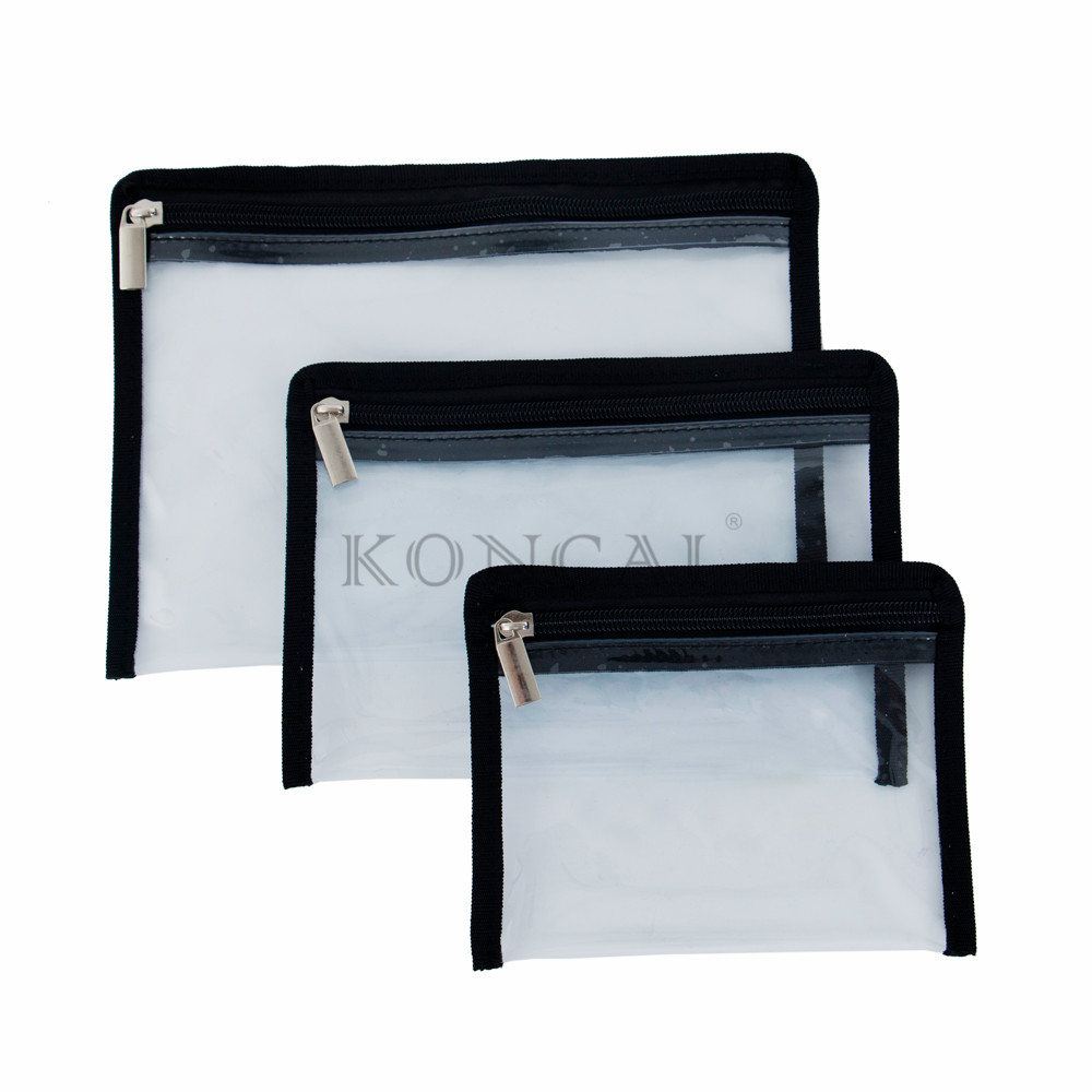 Metal Zipper Clear PVC Crossbody Bag For Small Party Makeup Bag