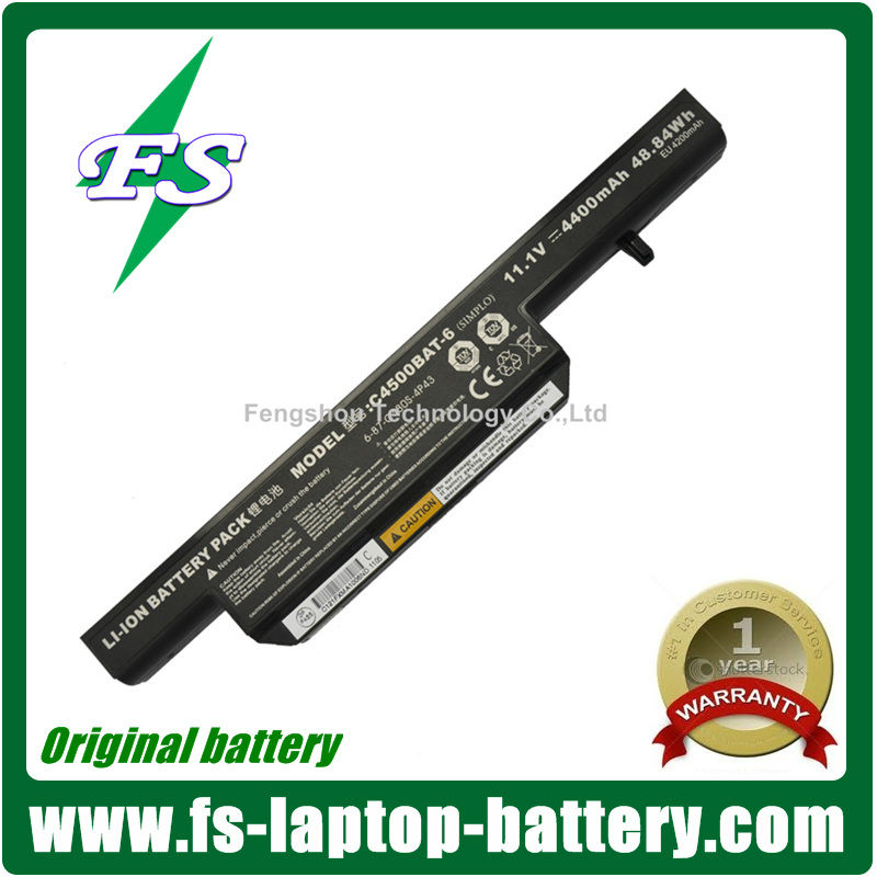 6-87-C480S-4P4 Original laptop battery C4500BAT-6 for Clevo C4500 notebook batteries