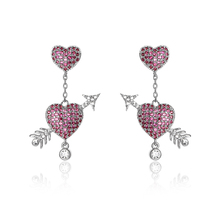 Hot Sale 925 Silver Cubic Zirconia Crystal Girls Drop Earring