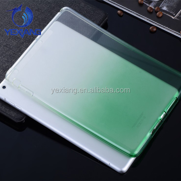 Factory Wholesale Color Change Crystal Soft Case For Ipad Air 2 TPU Cover