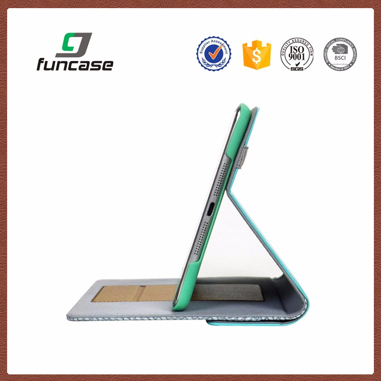 China OEM manufacturer anti-shock leather case flip cover for ipad air