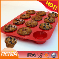 custom bpa free cupcake bakeware and wholesale private label shaped silicone bakeware mold