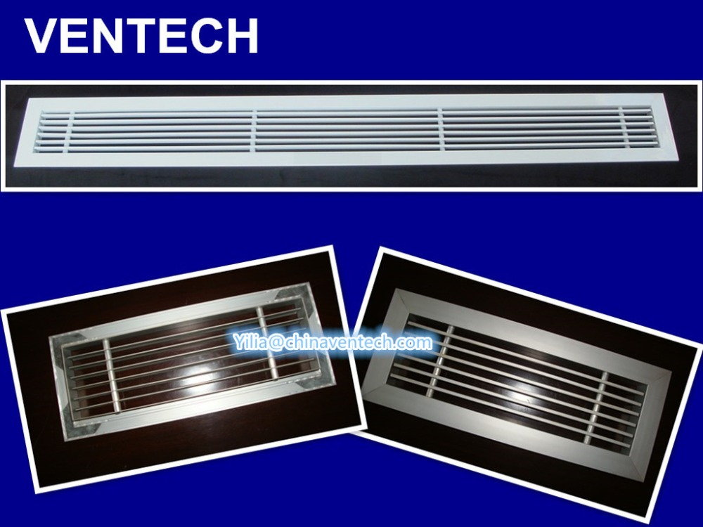 supply and return grille aluminum ventilation anodized silver floor grille