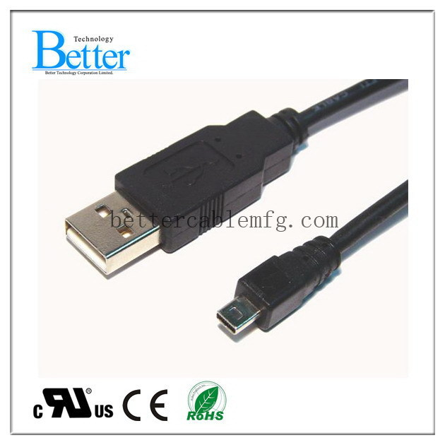 Top quality Cheapest cables to go usb a/m to mini 5p
