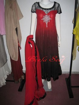 black red frock