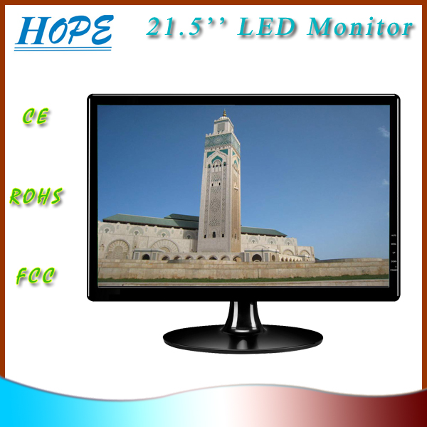 Wide screen 21.5 inch LED computer monitors with VGA and wall mounting