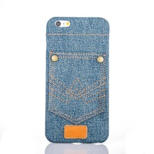 Lovely Slim Flip Stand Jean Soft Case Cover Back Cover Case For Apple iPhone 6 iPhone 6 Plus