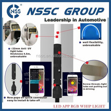 NSSC ATV UTV RGB Smart phone app controlled LED Light Whip