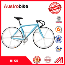 Wholesale Cheap High Quality 700C 26inch White and Blue color road bike fixed gear bike bicycle fixed gear For sale with CE