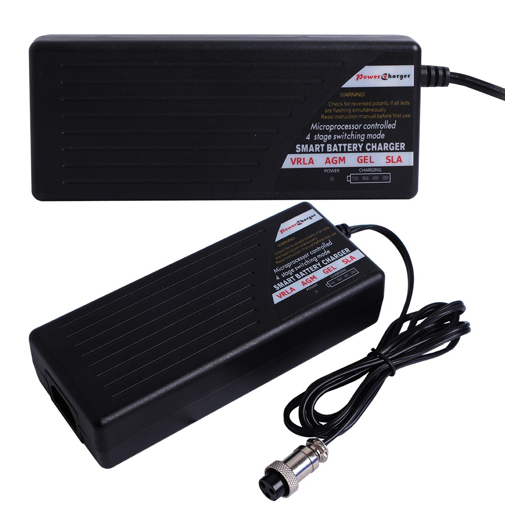 Worldwide Auto 4 stages charging process electric wheelchair charger 12V 5A SLA AGM VRLA GEL Lead Acid battery charger