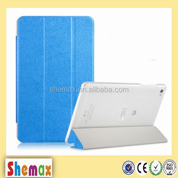 Factory wholesale 3 fold tablet leather protect case for huawei mediapad m3 8.4