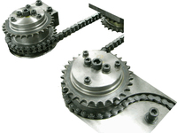 08B china manufactuer ISO 606 machine steel sprockets and chain