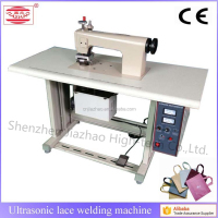Semi auto ultrasonic table cloth lace sewing machine
