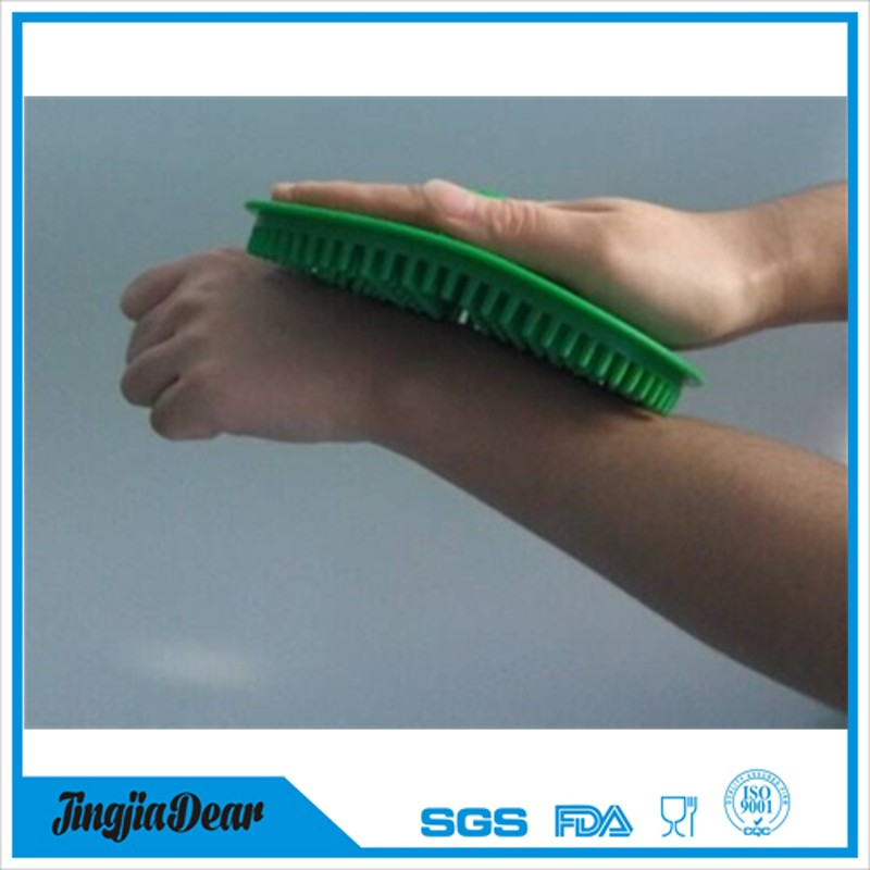 Wholesale new design multifunction massage brush silicone bath body brush for dish washing