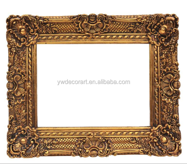 gold color oil painting frame antique looking european style frame for painting