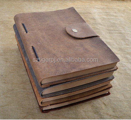Vintage Refillable Genuine Leather Travel Journal Notebook Diary Sketch Book 4 Colors personal gift