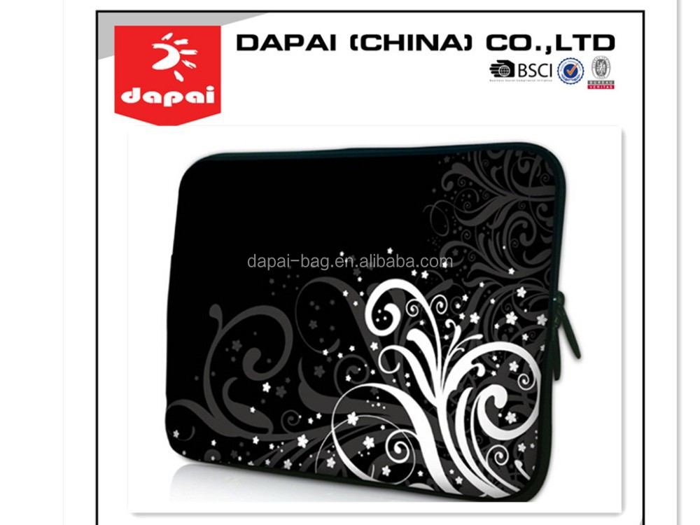 2015 printed custom neoprene laptop sleeve/neoprene laptop bag