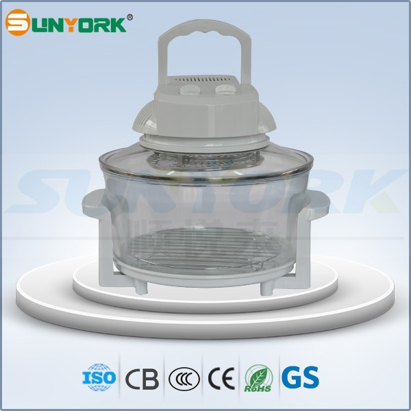 S618BW 7L glass bowl halogen oven