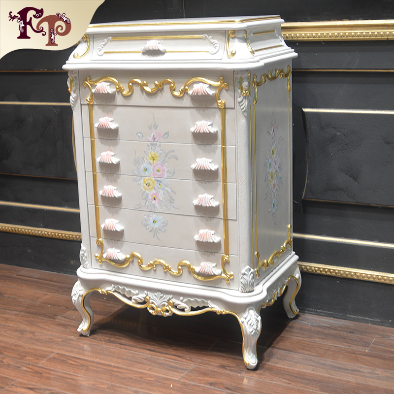 europe royal classical style solid wooden storage cabinet, storage cabinets with seven chest of drawers