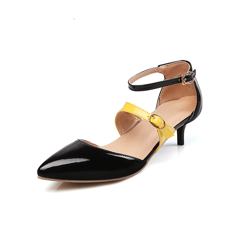 designer luxury brand dressy black closed toe heels sandals with straps