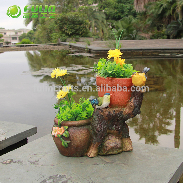 Most popular garden resin animal flower planter with good service