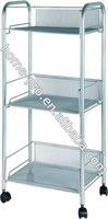 METAL MESH KITCHEN A4 PAPER FILE RACK ROLLING CART TROLLY ORGANIZER SHELVES WITH WHEELS