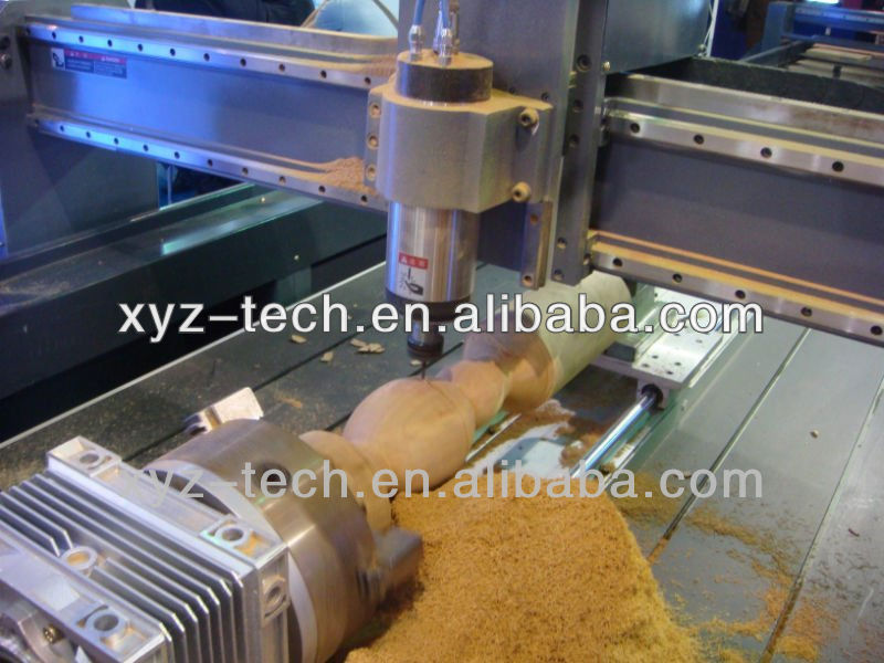 china good quality heavy duty 3d wood cnc router with rotary axis for wood works 1325