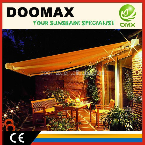 Aluminum Retractable Outdoor canopy Balcony Awning Design