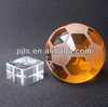 glass football souvenir, crystal football with base crystal award