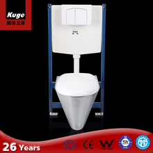Kuge Stainless Steel Sanitary Ware Wall Hanging Siphon Toilet Seat for Bathroom