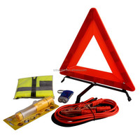 car repair tools with warning triangle , Safety Vest ,LED hammer for Auto Use