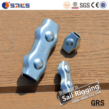 high quality galvanized steel simplex and duplex cable clip rigging hardware