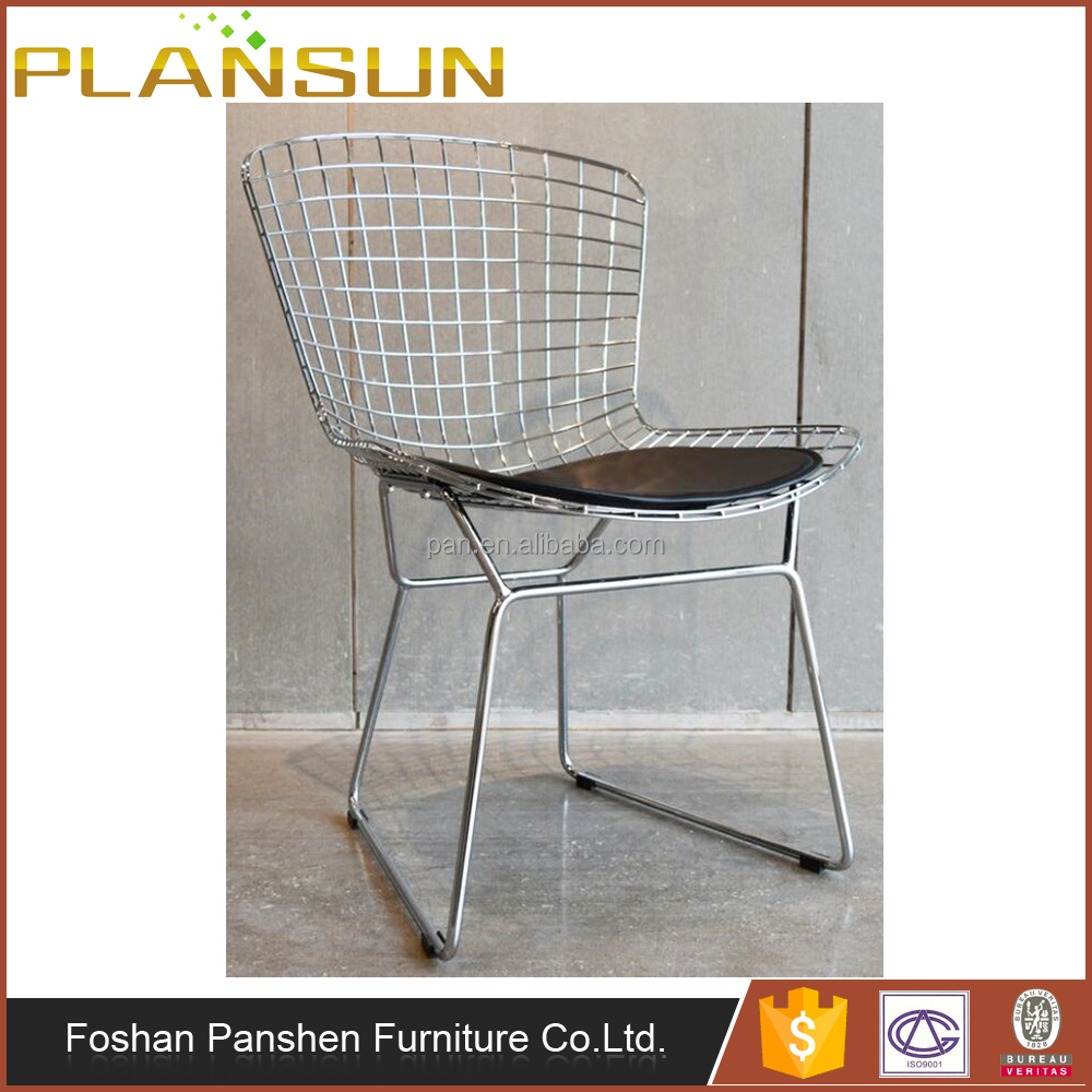 Dining room furniture solid metal frame wire Bertoia Dining Chairs
