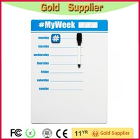 New design blue dry erase magnetic weekly board