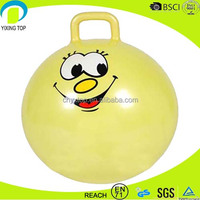 Eco-friendly PVC gymnastic toy jumping ball with handle