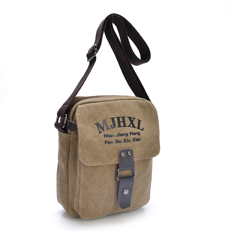 Chinese supplier fashion trend canvas messenger bag men casual