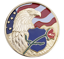 2014 new American Flag Gold Eagle Rose Metal Souvenir Coins