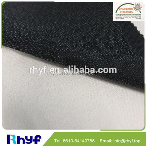 High quality top fuse interlining fusible buckram for shirt cuff