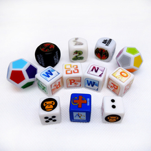Custom High Quality Plastic Dice Printed Game Dice Engraved Colored Dice Factory