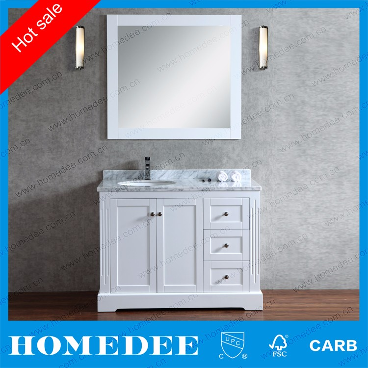 Homedee 48inch solid rubber wood bathroom vanities cabinet with legs