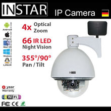 German White PTZ IR leds Dome 4 fach wifi outdoor network camera work under deep minor temperature